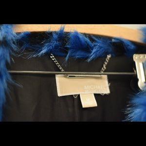 MICHAEL Michael Kors Jackets & Coats - Blue michael Kors faux fur coat